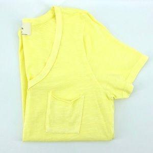 Anthropologie t.la Pocket Tee Yellow Cotton Top